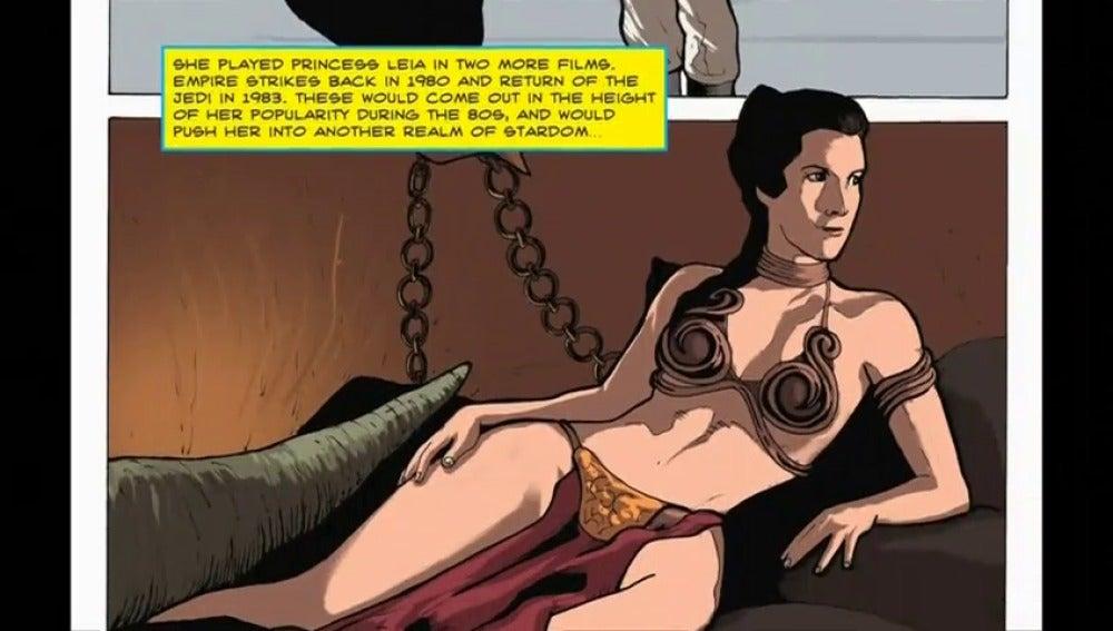 Frame 13.448875 de: Se publica un cómic sobre la vida de la actriz recién fallecida Carrie Fisher,