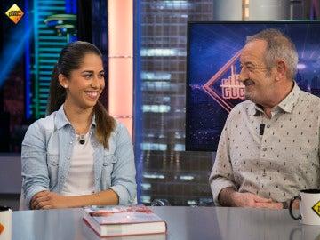 María Herrera, junto a Karlos Arguiñano en 'El Hormiguero'