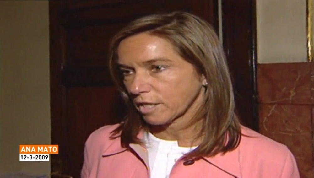 Frame 3.602072 de: La exministra Ana Mato tendrá que comparecer el lunes en el juicio de Gürtel