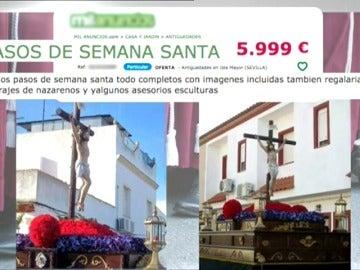 Frame 8.515151 de: Se ponen a la venta  en Internet dos pasos de Semana Santa y un lote de trajes de nazareno