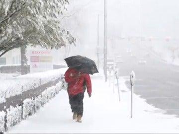 Frame 36.68275 de: Un fuerte temporal de nieve obliga a cancelar miles de vuelos en el noroeste de Estados Unidos