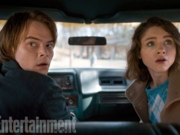 Charlie Heaton y Natalia Dyer en 'Stranger Things'