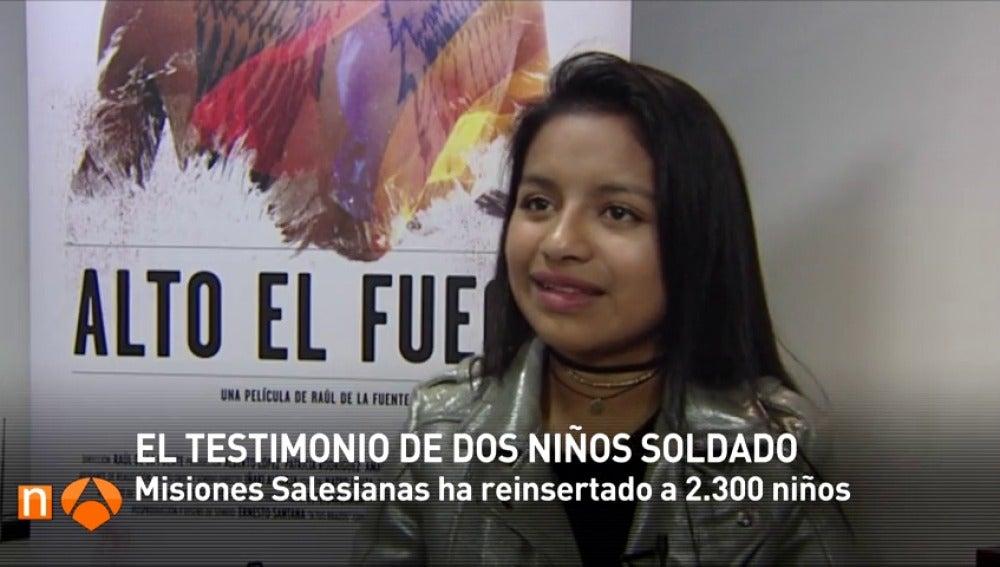 """Frame 281.808888 de: Dos jóvenes que pertenecieron a las FARC: """"Le pierdes el miedo a algo tan simple pero tan grande como quitarle la vida a otra persona"""""""