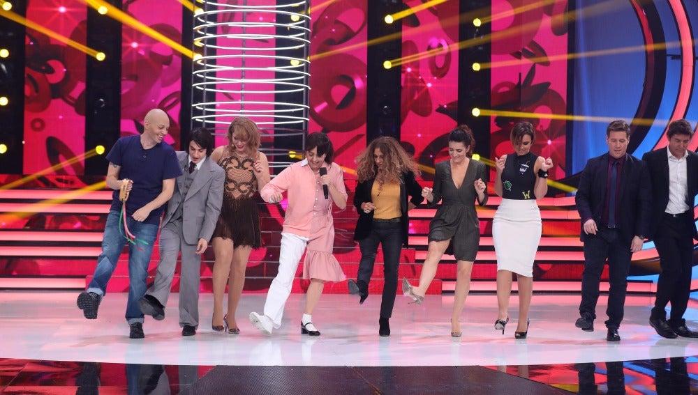 Yolanda Ramos se convierte en la coreógrafa más peculiar de 'La Yenka'