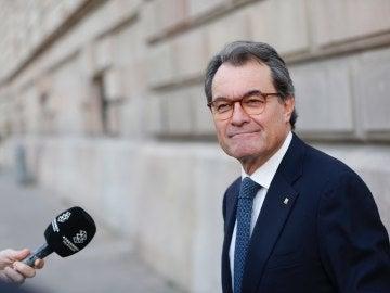 El presidente de la Generalitat, Artur Mas, a su llegada al TSCJ