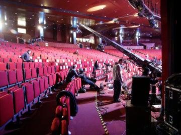 Vista de los preparativos de la gala de entrega de los premios Goya en hotel Marriott Auditorium de Madrid
