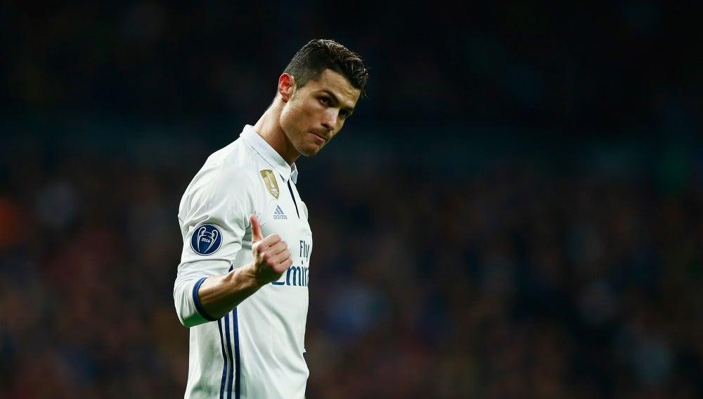 Cristiano Ronaldo, en el partido ante el Nápoles