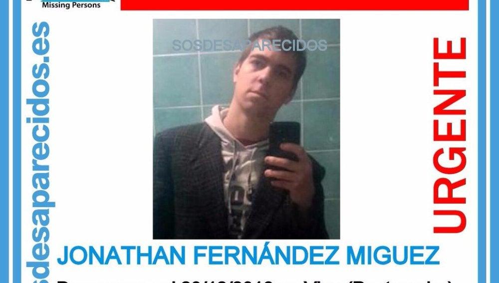 Jonathan Fernández, desaparecido en Vigo