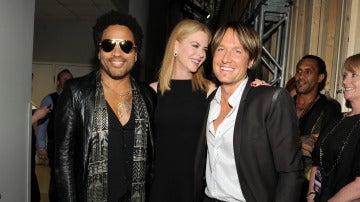 Lenny Kravitz, Nicole Kidman y Keith Urban