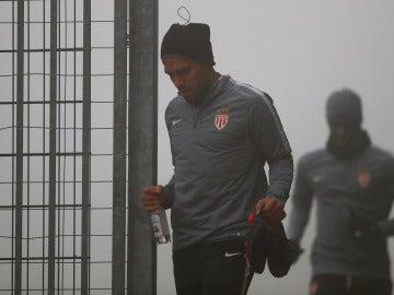 Falcao, en un entrenamiento del AS Mónaco