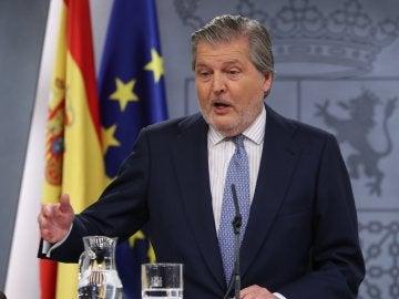 Iñigo Mendez de Vigo durante la rueda de prensa tras el Consejo de Ministros