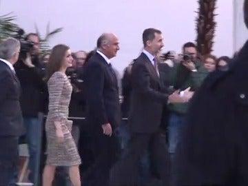 Frame 16.078222 de: Los Reyes llegan al Museo Thyssen en una visita que coincidirá con la comunicación de la sentencia