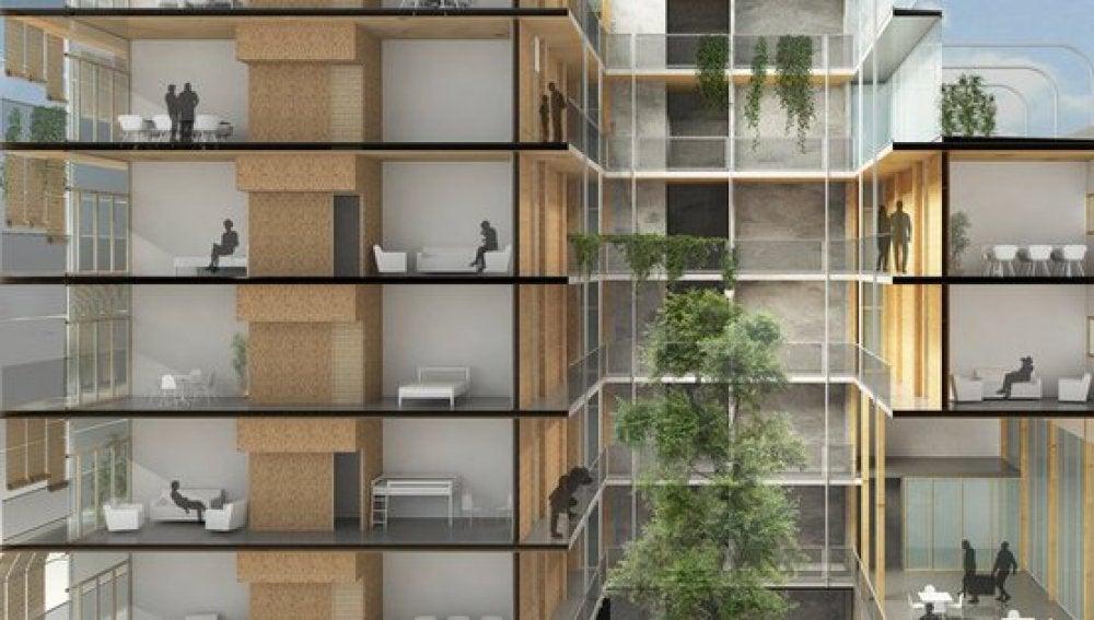 El edificio de madera más alto de españa