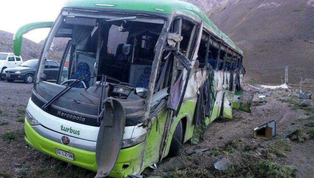 Así ha quedado el autobús tras el accidente