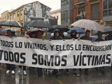 Manifestación en Astorga contra la pederastia en seminarios de curas