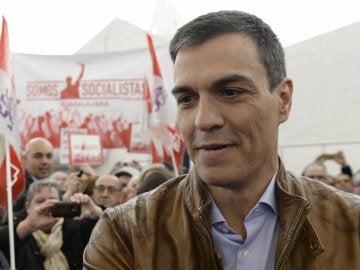 Pedro Sánchez en un acto público en Valladolid