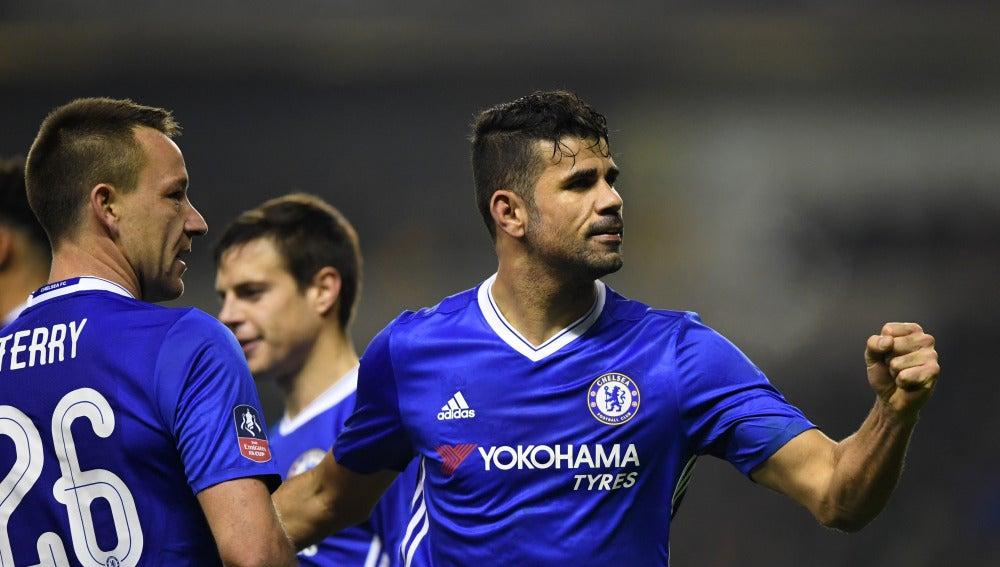 Diego Costa celebrando un gol