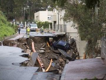 Las intensas lluvias que se han registrado en Málaga han ocasionado más de doscientas incidencias