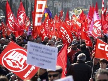 Fotografía de archivo de una manifestación convocada por CCOO y UGT