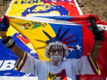 Seguidores de Leopoldo López marchan en Caracas para pedir su libertad (18-02-2017)
