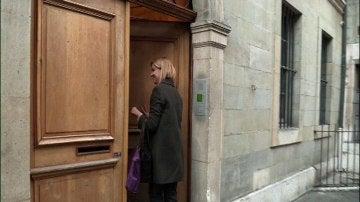 La Infanta Cristina a su llegada al domicilio