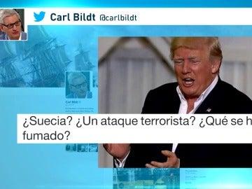 Frame 35.052159 de: Trump aclara que con el incidente en Suecia se refería a un programa de Fox en el que hablaban de inmigración