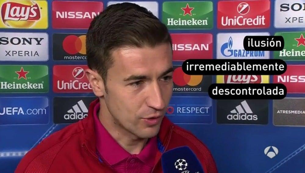 """Frame 3.622666 de: Gabi: """"En el campo del Leverkusen ya lo pasamos muy mal"""""""