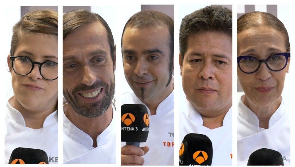 Los concursantes de 'Top Chef' definen el concurso con una sola palabra