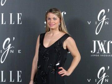 Carla Goyanes se vistió de negro