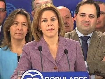 Frame 10.216492 de: Cospedal anuncia su candidatura para volver a presidir el PP en Castilla-La Mancha