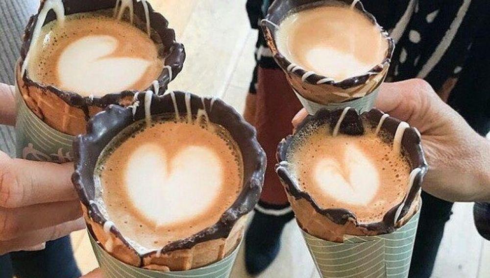 El exitoso café en un cono.