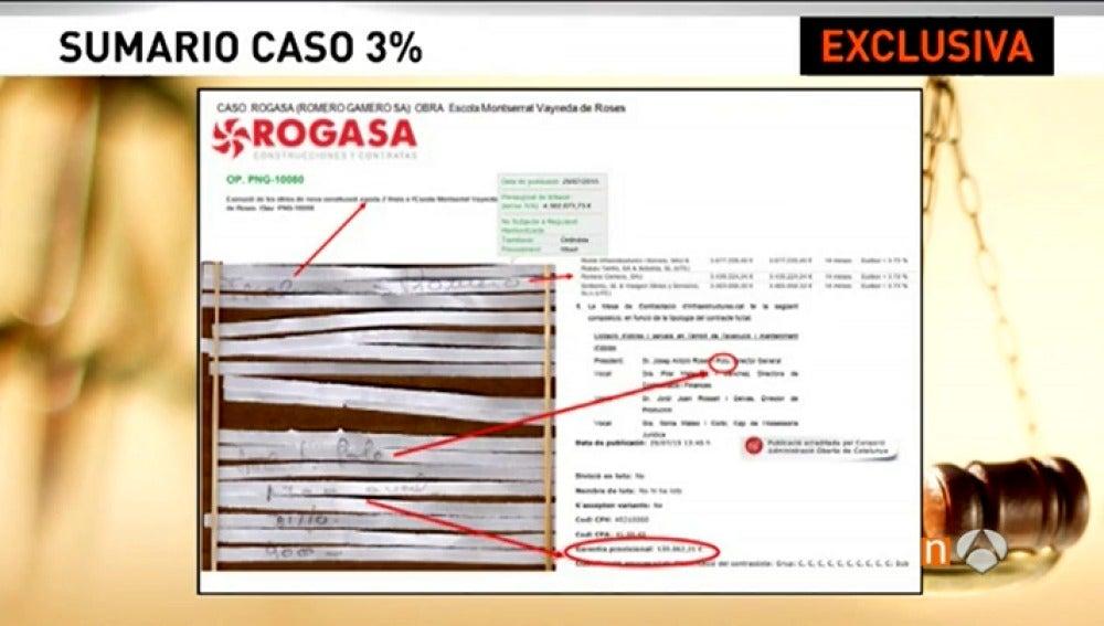 Frame 0.0 de: Exclusiva: En los documentos triturados del despacho de Viloca aparecen palabras clave y nombres de contratistas que desvelan cómo operaba la 'trama del 3%'