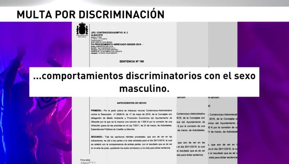 Frame 23.704517 de: Multan a un pub de Albacete por cobrar la entrada a los hombres y no a las mujeres
