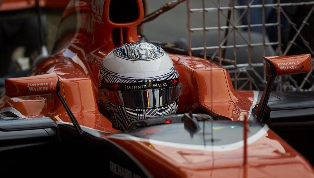 Fernando Alonso, en los test de Montmeló