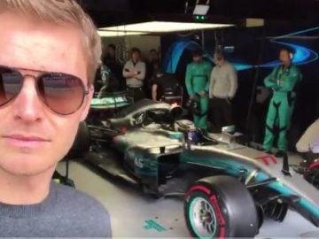 Rosberg en los test de Montmeló