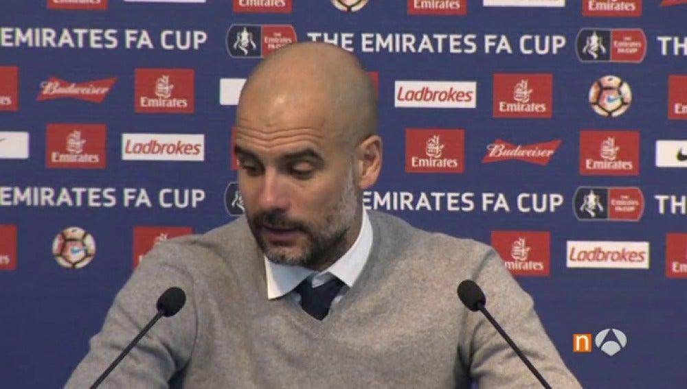 """Frame 38.241877 de: Guardiola: """"Estoy triste porque vamos a perder al entrenador perfecto para el Barça"""""""