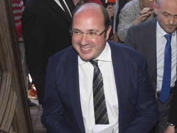 Pedro Antonio Sánchez en el Palacio de Aguirre de Cartagena
