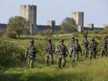Un equipo de combate del Ejército de Suecia