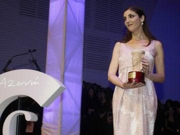 La escritora vasca Espido Freire tras ser galardonada con el Premio Azorín de Novela 2017