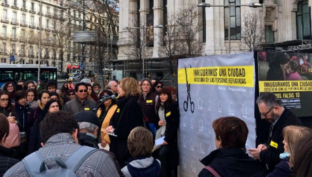 Manifestación en el centro de Madrid por la acogida de refugiados