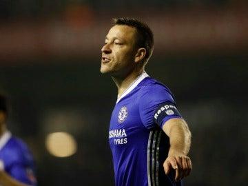 John Terry en un partido con el Chelsea