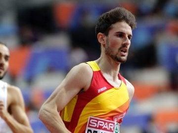 Álvaro de Arriba, durante una carrera