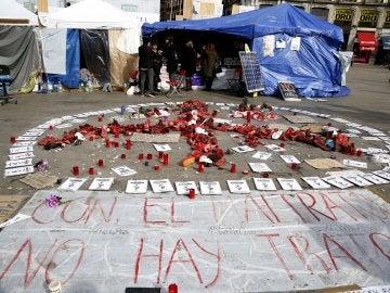 Mujeres en huelga de hambre en Sol