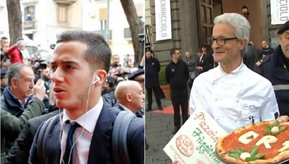 Recibimiento al Real Madrid en Nápoles