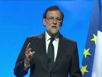 """Frame 146.53241 de: Rajoy: """"España está dispuesta a ir más allá en la integración con todos aquellos que quieran seguir en la integración europea"""""""