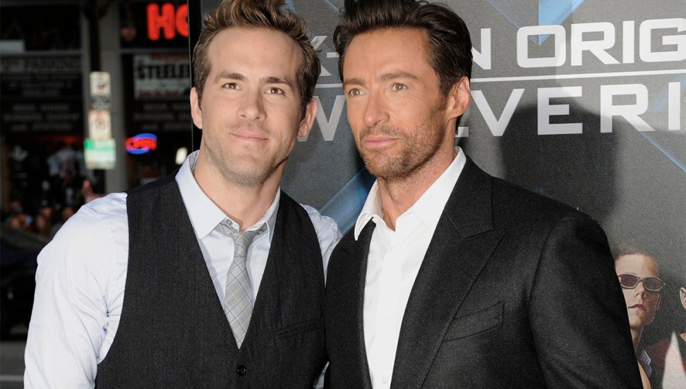 Ryan Reynolds junto a Hugh Jackman