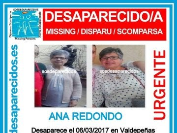 Mujer desaparecida en Valdepeñas