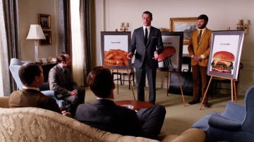 Don Draper presentando la campaña a Heinz