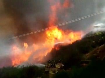 Frame 5.85303 de: Alerta roja en la región chilena de Valparaíso por un gran incendio forestal