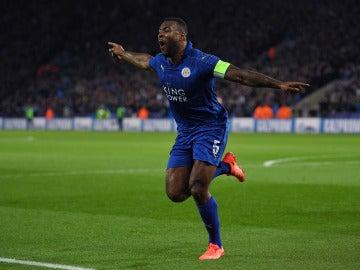 Morgan celebra su gol ante el Sevilla